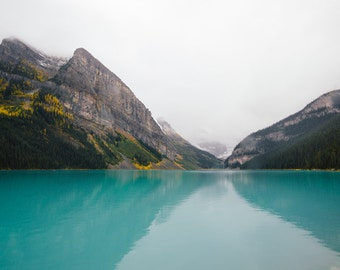 Lake Louise, Nature Photography, Rocky Mountain Print, Banff Canada Photography, Wilderness Landscape Wall Decor - Turquoise Paradise