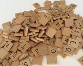 160 Vintage Scrabble Tiles