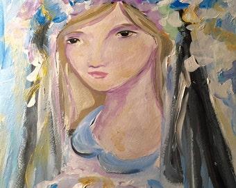 Amelia, original acrylic painting