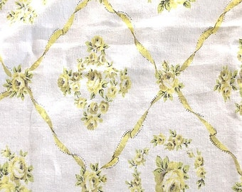 table cloth Yellow Roses vintage/retro shabby/cottage chic