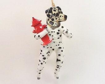Vintage Inspired Spun Cotton Dalmation Dog Ornament