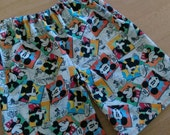 Boutique Handmade Boys Licensee Fabric Disney MICKEY MOUSE summer shorts! Size 3/4!