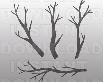 Tree Branches SVG File,Tree SVG File-Cutting Template-Vector Clip Art for Commercial & Personal Use-Download-Cricut,Cameo,Silhouette,Vinyl