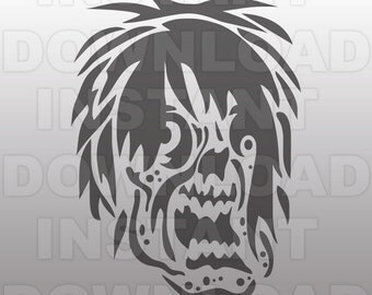 Zombie SVG File,Walking Dead SVG File -Commercial & Personal Use- Vector Art SVG for Cricut,Silhouette Cameo,iron on vinyl,decal design