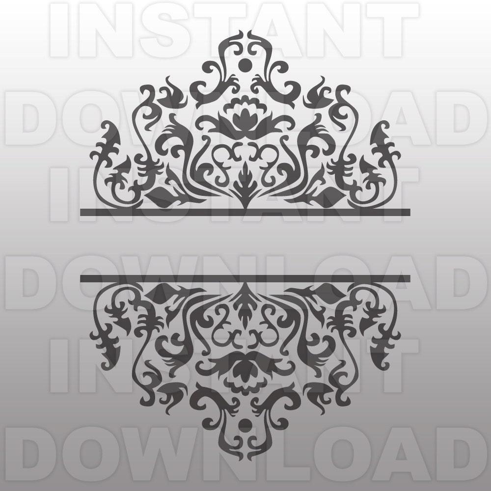 ornate scrollwork split frame