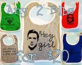 Any 2 Bibs for Twenty Bucks. Baby bibs set of two of your choice.