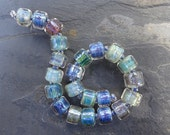 Pearly Shiny Rollers - SRA handmade glass lampwork beads - Lori&Kim