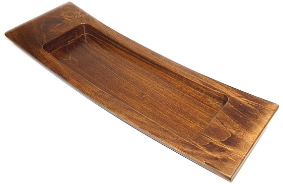 Ambrosia maple wood centerpiece tray handmade tablescape