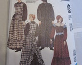 McCalls 4229  Misses Prarie Dress, Apron, and Bonnet Pattern Size 14 and 16 Costume