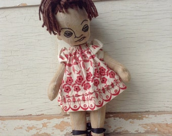 Lulu OOAK handmade cloth doll