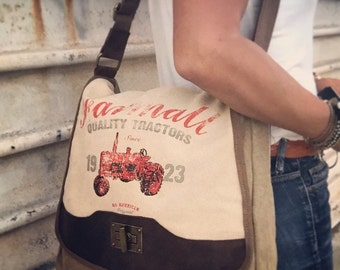 Farmall CASE IH - Quality Tractors - Canvas & Leather Shoulder Bag - Medium ... Selina Vaughan