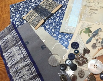 Inspiration kit in blue and silver