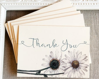 Daisy Thank You Notes set of 5