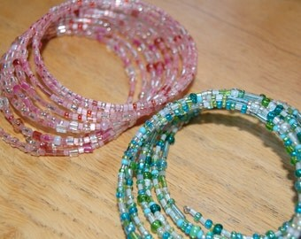 Memory Wire beaded braclets