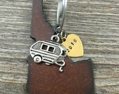IDAHO | Rustic 2016 Christmas Ornament | Handstamped Brass Tag Antiqued Silver Cowboy Boot Pickup Truck Tractor Camper