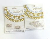 Precious Accents 15 x 9 MM Box Clasp 2 Each and 19MM 3 Strand End Bar 4 Each Silver Tone Jewelry Clasps Findings Necklace Bracelet Findings