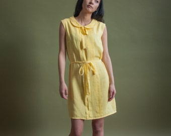 r&k originals peter pan collar mod mini dress / 60s dress / twiggy dress / m / 1817d