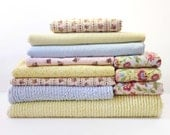 Baby Quilt Kit - Pastel Chenille - Pale Yellow Blue Pink - Pinwale Baby Corduroy - Quilting Flannel - 100% Cotton - Nursery Colors - 10+ Yds
