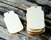 10 . Unfinished Wood Mason Jar Tags . 2 3/4 Inch Wood Tags . DIY Mason Jar Wedding Favors . Fall Wedding Decor . Rustic Wedding Supplies