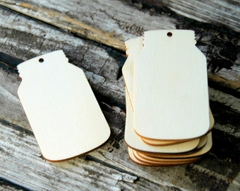 10 . Mason Jar Wedding Favors . 2 3/4 inch Unfinished Wood Tags . Rustic Wedding Favors . Fall Wedding Favors . Mason Jar Wedding Favors