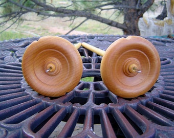 Top Whorl Hardwood Drop Spindle with Basic Spinning Instructions from Nancy's Knit Knacks Learn to Spin
