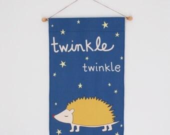 Twinkle Banner, Nursery Wall Banner