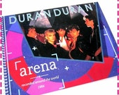 SALE 40% OFF--- Journal DURAN Duran Arena Around the World (Original Release) Recycled Notebook / Upcycled Retro Record Album Cover - Vintag