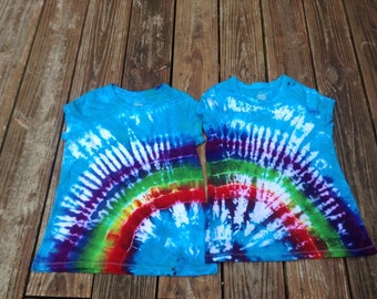Best friends shirt tie dye kids tee rainbow sisters size large tee twins twin shirts