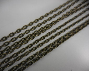 3/6 Textured Bronze-tone necklace chain for jewelry making Assemblage art