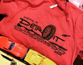 Welcome to Detroit - Big Tire tee