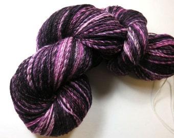 SALE 20 Percent Off -- Hand Dyed Hand Spun Sport Sock Yarn, Navajo 3-Ply Superwash Merino Sock Yarn -- Wild Blackberry (95 grams/340 yards)