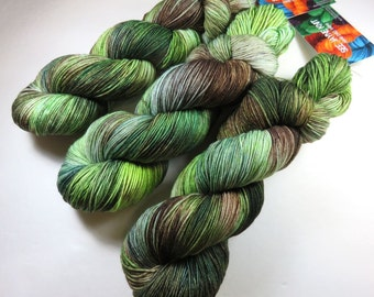Hand Dyed Superwash Merino and Nylon 4-Ply Sock Yarn -- Once In The Highlands (Outlander)