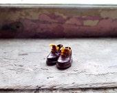 Edwardian Era Leather Miniature Doll Shoes