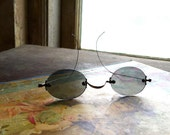 Antique Sunglasses Wire Arms Frameless