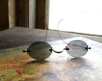 Antique Children's Sunglasses Wire Arms Frameless