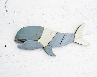 Small Wooden Whale, Nautical Nursery Decor, Rustic Home Decor, Reclaimed Wood Art, Coastal Decor, Wooden Whale Art,