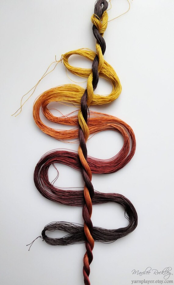 Size 80 Quot Tigereye Quot Hand Dyed Thread 6 Cord Cordonnet
