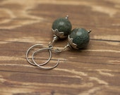 SALE- Green Opal Earrings