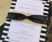 Elegant Black and Gold Wedding Invitation - Design Fee