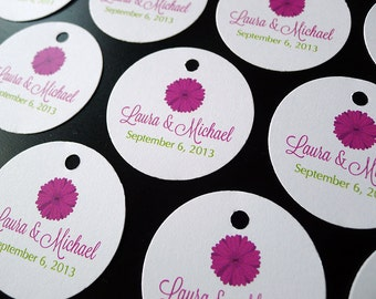 Gerber Daisies Wedding Favor Tags