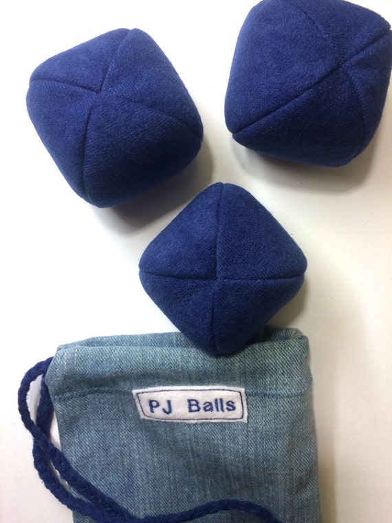 120g - 3 PJ BALLS and BAG- Dark Blue - For Beginners or Professionals