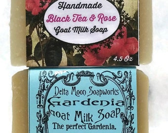 Gardenia and Rose Goat Milk Soaps, ready to ship, handmade olive oil soap, cold process soap, Shea Butter Soap, shaving soap, gift for her