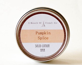 Pumpkin Spice Organic Lotion Bar, Bumble Bee, Softening, Body Cream, Solid Perfume, Dry Skin Balm, Wedding Shower, Baby Favor, Moisturizer