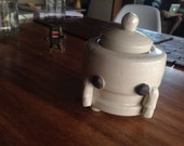 RESERVED--Robot sugar pot-stoneware