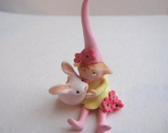 Little flower pixie with BUNNY