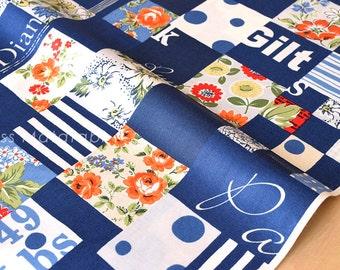 Japanese Fabric Suzuko Koseki - blue - fat quarter