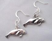 Manatee Earrings Gentle Giants Sea Cow Earrings Marine Mammal