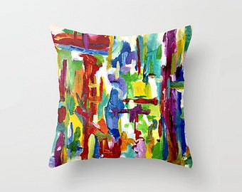 Abstract Modern Art Pillow Cover: There Is Less To Say