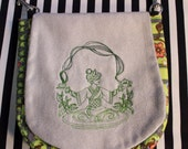 Pouch Spare Pocket Embroidery Tea Goddess
