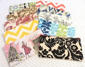 Bridal Party Set - Handmade Gift Set - Set of 10 Zipper Pouches - Large Cosmetic Pouch - Bridesmaid Gift Set - BizzieLizzieHandmade Bags